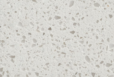 Close up photo of Crystal White Quartz Slab