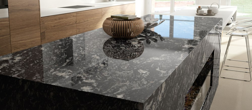 Indian Marquina Black Granite for Staircase