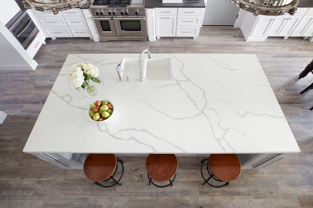 Quartz Top Dining Table by Petrosstone