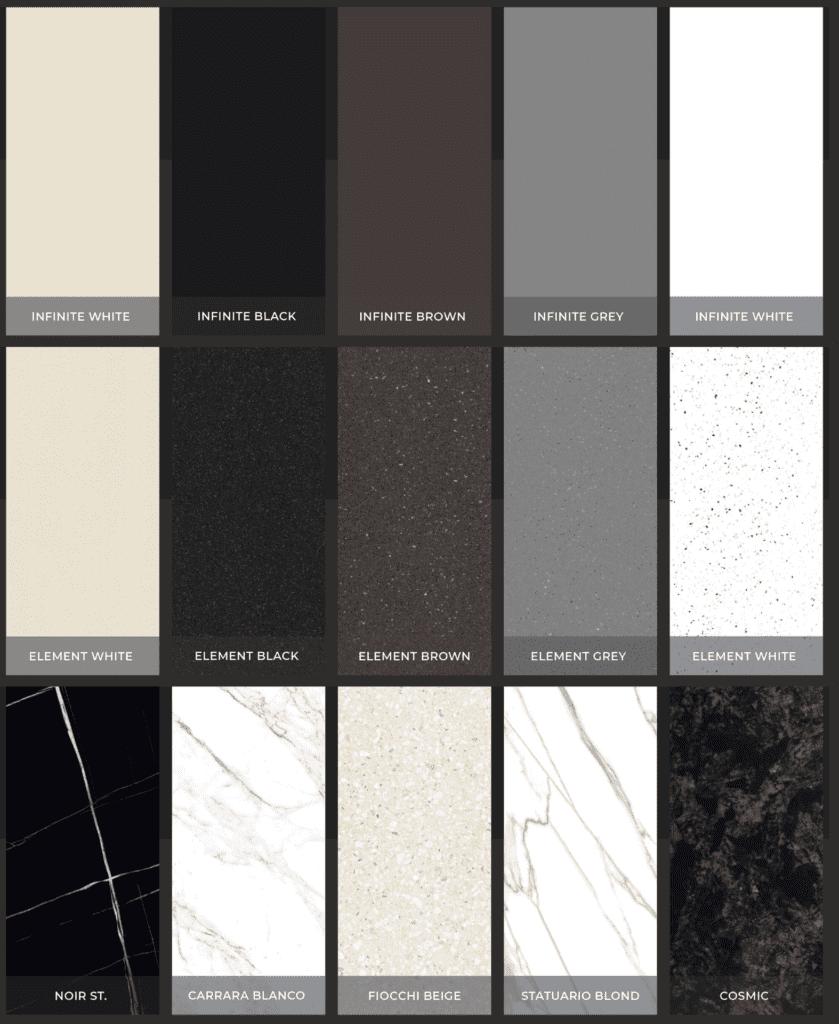Petros® Stone Slab Colours