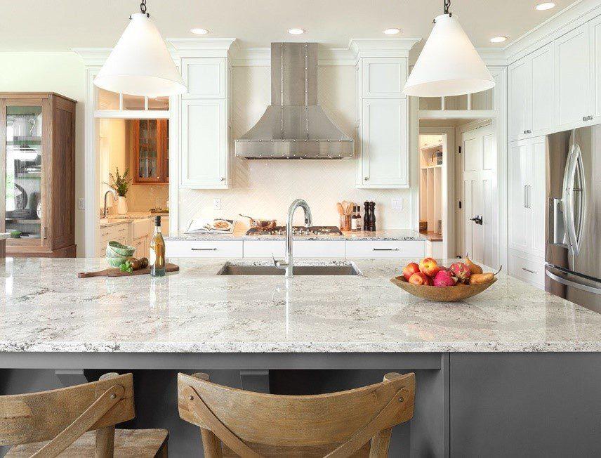White Marble Kitchen Countertop
