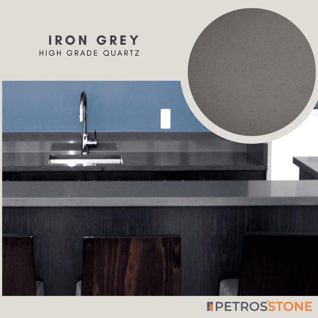 Iron Grey Quartz by Petros Stone