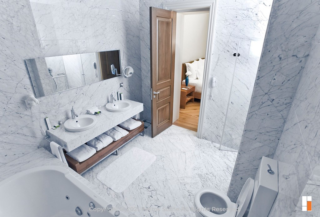 Carrara Marble Flooring and Bathroom Cladding